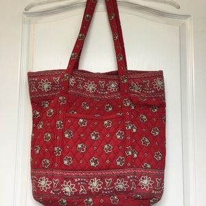 Vera Bradley red and white floral tote.